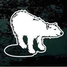 Polar Bear Standing On Ice Car Window Decals Stickers Decal Junky
