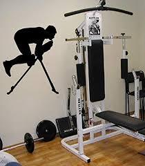 Amazon Com Sport Gym Athlete Muscle Training Apparatus Kids Room Children Stylish Wall Art Sticker Decal G9570 Home Kitchen