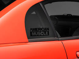 Sec10 Mustang Americanmuscle Quarter Window Decal Black 26075g94 94 04 All