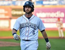IronPigs utility player Andrew Romine staying to the left the rest ...