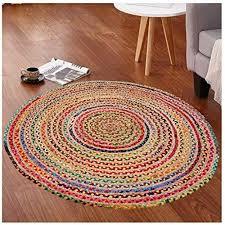 multi chindi round braided hand woven