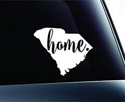 Amazon Com 3 Home South Carolina State Columbia Symbol Sticker Decal Car Truck Window Computer Laptop White Automotive