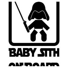 Baby Sith On Board Sticker Vinyl Decal Stickers Vinyl Decals Vinyl Lettering