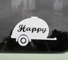 Happy Camper Car Vinyl Car Window Decal Teardrop Camping Etsy
