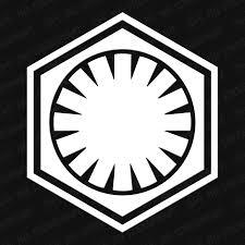 Star Wars First Order Symbol Vinyl Decal Vinyl Decals Star Wars Vector Art
