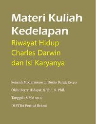 pdf materi kuliah kedelapan charles darwin ferry hidayat