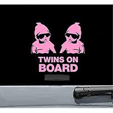Amazon Com Twins On Board Decal L993 8 Baby Sticker Car Window Automotive