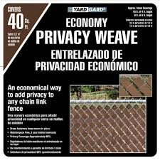 Yardgard 4 Ft H X 250 Ft W Brown Economy Vinyl Fence Panel Weave 330250wbr The Home Depot
