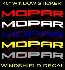 Mopar Windshield Vinyl Decal Vehicle Sticker Banner Lettering Ebay