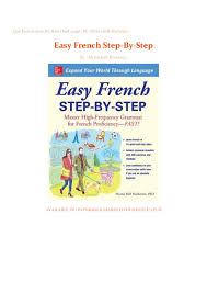Easy French Step-By-Step | Full_page | By- Myrna Bell Rochester