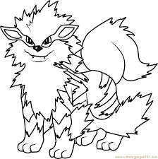 Pokemon Coloring Pages Growlithe