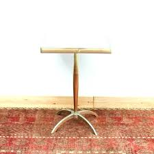 threshold metal accent table with wood