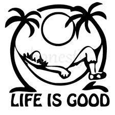 2pcs 11 5 11 5cm Black Stickers Life S Good Relax Palm Tree Car Window Wall Decal Auto Laptop Sticker Decor Gifts Wish