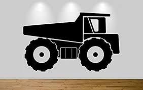 Amazon Com Firstdecals Large Dump Truck Wall Sticker Decal Boys Girls Bedroom Wall Art 56 Home Kitchen
