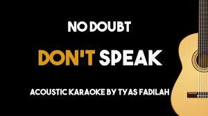 Don't Speak - No Doubt (Acoustic Guitar Karaoke Version) - YouTube