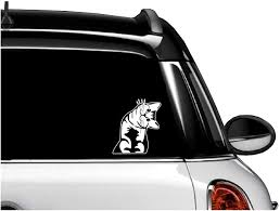 Amazon Com Cute Curious Baby Kitten Cat Car Decals Die Cut Vinyl Sticker For Macbook Car Laptop Window Wall Decal By A B Traders White Computers Accessories