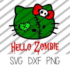 Hello Zombie Vinyl Decal Svg Etsy