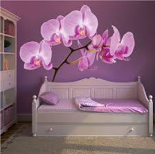 Orchid Wall Mural Decal Beautiful Wall Decal Murals Wall Mural Decals Floral Wall Decals Wall Murals