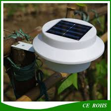 China Round 3led Cheap Price Solar Fence Post Lamp Outdoor Garden Lighting Solar Yard Path Gutter Light China Solar Gutter Light Garden Solar Lights