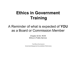 ethics in government training a