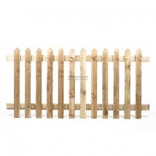6ft X 3ft Traditional Picket Fence Timber Pointed Tops
