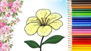 Hình vẽ cho bé tập tô theo chủ đề hoa - Kids Art&Music Saigon