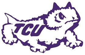 Ncaa0108 Tcu Horned Frogs Logo With Tcu Die Cut Vinyl Graphic Decal Sticker Ncaa