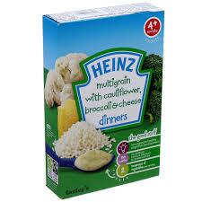 Bột ăn dặm Heinz vị súp lơ, bông cải và phô mai 4+ months – Hato Baby