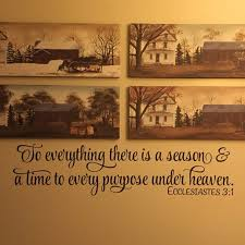 Ecclesiastes 3 1 Vinyl Wall Decal 2 To Everything There Is A Season A Time To Every Purpose Under Heaven Wall Art Decal Bible Verse Eccl3v1 0002