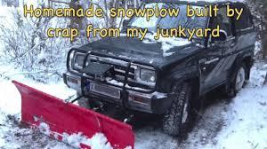 homemade snowplow built by junk arne