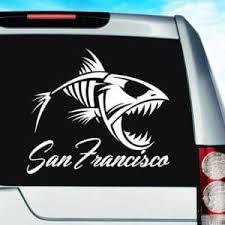 San Francisco Vinyl Car Window Decals Stickers