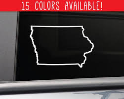 Iowa State Vinyl Decal Laptop Car Truck Bumper Window Sticker Etsy