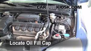 how to add oil honda civic 2001 2005