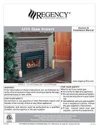 regency fireplace s i31 ng3