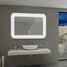 tangkula led lighted bathroom mirror