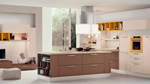 Contemporary kitchen - ADELE - CUCINE LUBE - wood veneer / island /  lacquered