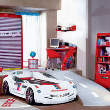 Childrens Room With Car Racing Theme Houzz