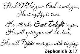Zephaniah 3 17 Vinyl Decal Ebay