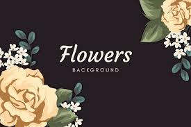 2d vine flowers wallpaper free vector