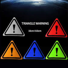 New 3m Triangle Flag Warning Mark Reflective Sticker Tape Decal Car Diy Reflective Warning Sticker Universal 10x10x10cm Review Diy Car Reflective Diy