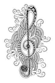 Coloriage Zen Coloriage Musique Coloriage Zentangle Art