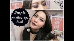 purple smokey eye look 2016 grunge