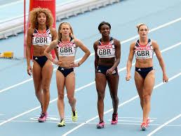 Ashlee Nelson, Hayley Jones, Annabelle Lewis, Dina Asher-Smith - Hayley  Jones and Dina Asher-Smith Photos - 14th IAAF World Athletics Championships  Moscow 2013 - Day Nine - Zimbio