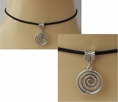 uk er black leather choker necklace
