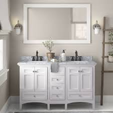 "Luz 60"" Double Sink Bathroom Vanity Set & Reviews | Birch Lane"