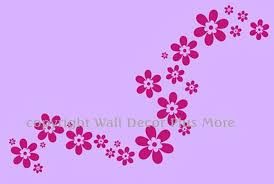 Decorative Florals Flower Vinyl Wall Sticker Decals Set 24pc Popular Decor For Girls Room