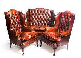 bespoke english leather queen anne sofa