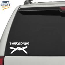 Taekwondo Belt With Text Karate Font Car Stickers And Decals