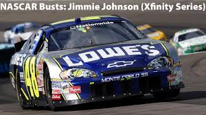 NASCAR Busts: Jimmie Johnson (Xfinity Series) - YouTube