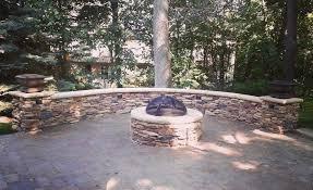 retaining wall paver patio brick